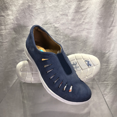 Comfortiva by SoftSpots Women's •Tinsley•  Slip on - Navy Suede - Pre-owned