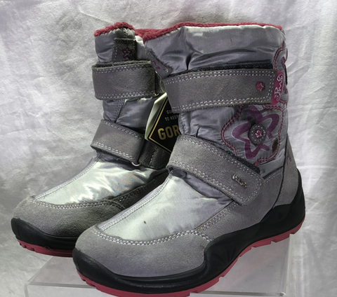 Primigi  Girl's  Gortex Snow  Boot  - Gray/Pink - EU Size 32