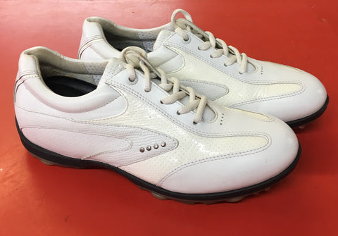 Women's ECCO Golf Shoes SZ. 6-6.5 US/EU 37 White/White Hydo~Max - ShooDog.com