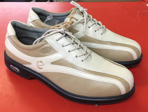 Women's ECCO Golf Shoes SZ. 7-7.5 US/EU 38 Tan/Beige  - Hydromax - ShooDog.com