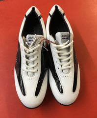 Women's ECCO Golf Shoes SZ. 7-7.5 US/EU 38 White/Black Hydo~Max - ShooDog.com