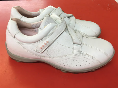 Women's ECCO Golf Shoes SZ. 6-6.5 US/EU 37 White Hydo~Max Velcro - ShooDog.com