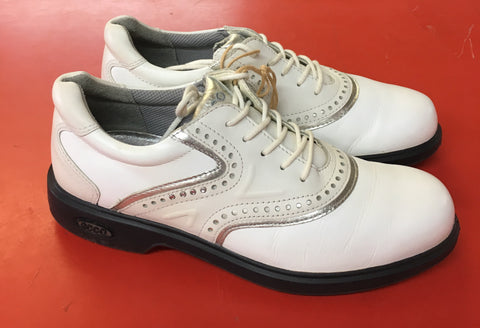 Women's ECCO Golf Shoes SZ. 6-6.5 US/EU 37 White/Silver Hydo~Max