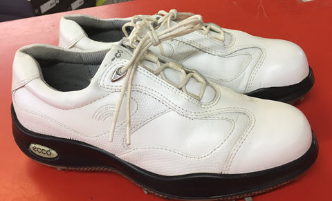 Women's ECCO Golf Shoes SZ. 7-7.5 US/EU 38 White Hydromax - ShooDog.com