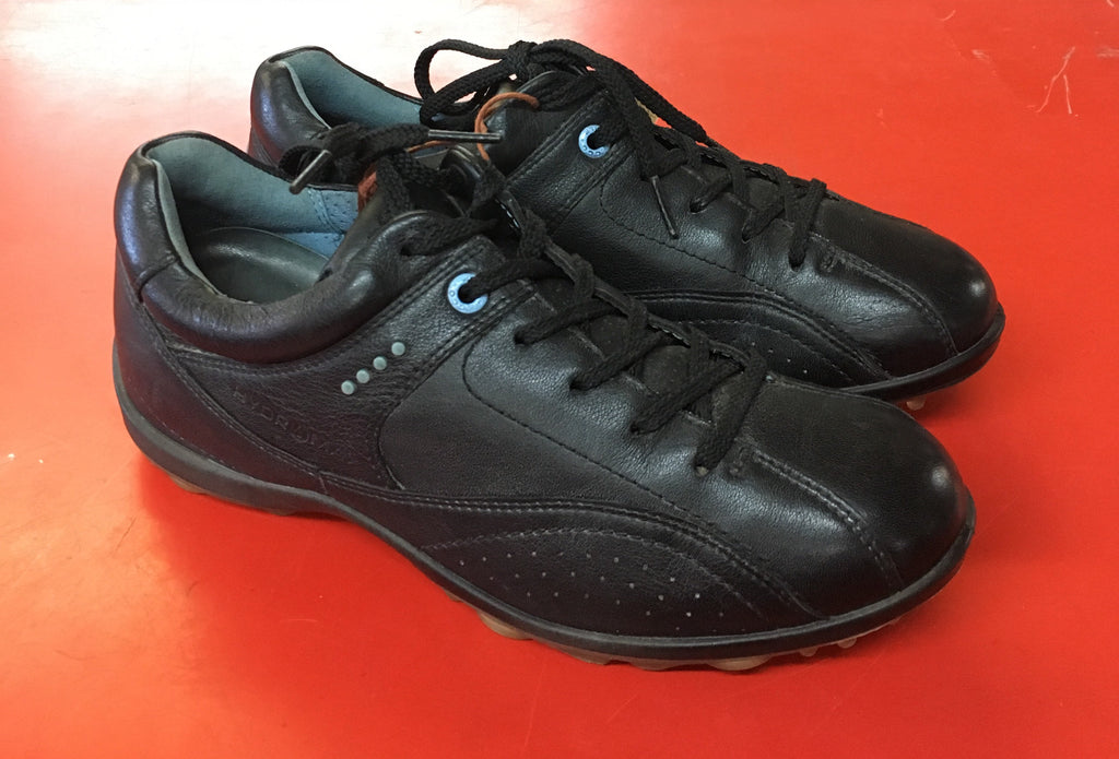 Women's ECCO Golf Shoes SZ. 6-6.5 US/EU 37. Black Hydromax - ShooDog.com