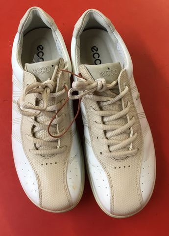 Women's ECCO Golf Shoes SZ. 6-6.5 US/EU 37. White/Beige - ShooDog.com