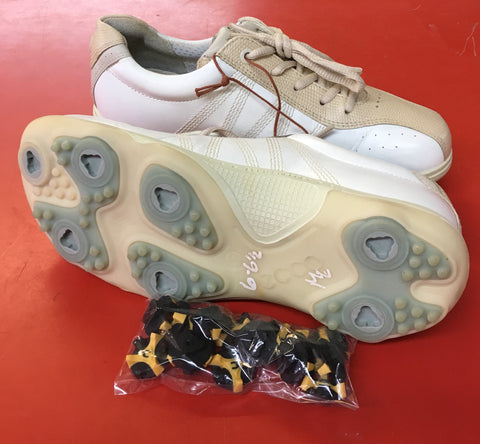 Women's ECCO Golf Shoes SZ. 6-6.5 US/EU 37. White/Beige