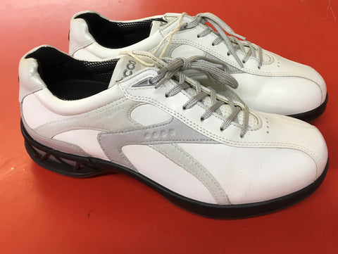 Women's ECCO Golf Shoes SZ. 6-6.5 US/EU 37. White/Pink. Hydro-max