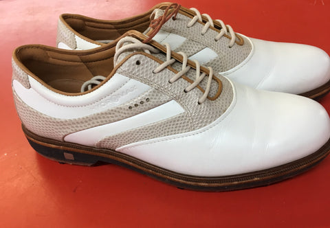 Women's ECCO Golf Shoes SZ. 7-7.5 US/EU 38 White/Beige/Tan