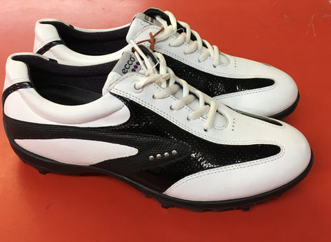Women's ECCO Golf Shoes SZ. 7-7.5 US/EU 38 White/Black Hydo~Max