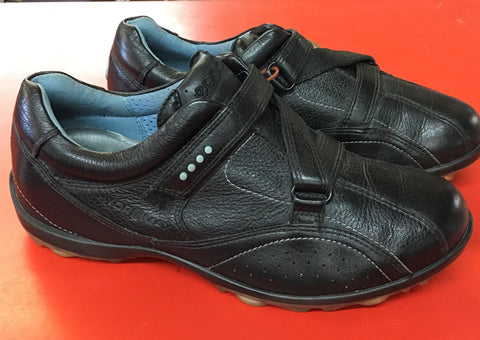 Women's ECCO Golf Shoes SZ. 6-6.5 US/EU 37. Black Hydro-max Velcro - ShooDog.com