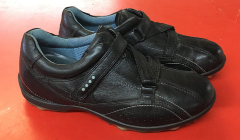 Women's ECCO Golf Shoes SZ. 6-6.5 US/EU 37 Black Velcro