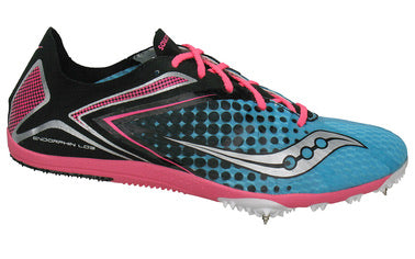 Women's Saucony Endorphin LD3 Track & Field Shoe  •Blue/Black/Pink•