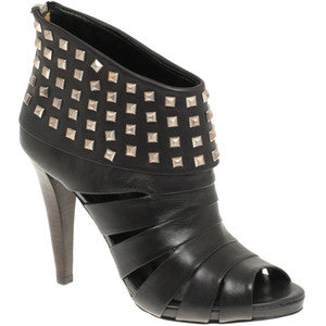 ASH Women's •Kate• Peep-Toe Studded Ankle Booties