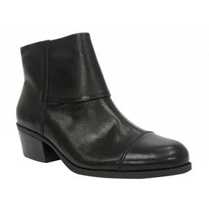 ELLEN TRACY Women's Randa  Boot - Black Leather - - ShooDog.com