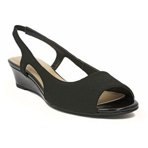 Womens ELLEN TRACY - Justin - Slingback Wedge Sandals - ShooDog.com