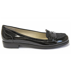 Womens  ELLEN TRACY Black Patent   - Keller  - Loafers - ShooDog.com