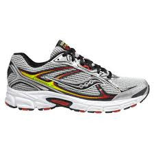 Mens Saucony Cohesion 7 - Wide Width  •Silver/Black/Red• - ShooDog.com