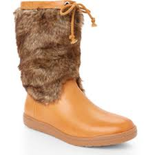 ELLEN TRACY Women's Lizzie • Faux Fur Trimmed Mid-calf Boot - ShooDog.com