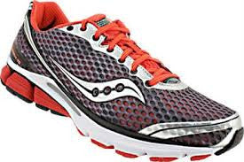 Men's Saucony PowerGrid Triumph 10 •Grey/Red• Running Shoe