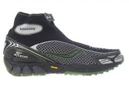 Saucony Men's Progrid Razor Trail Running Shoe •Black/Red• - ShooDog.com