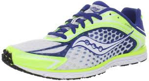 Mens Saucony Competition Road Racing Type A5  Citron / Blue / White