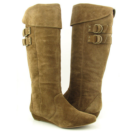 JESSICA SIMPSON Women's 'Francilia' Mid-calf Pull-on Boots •Dust Suede• - ShooDog.com