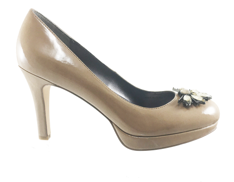TAHARI Women's  •Lina ~ Jewel•  Platform Patent Leather Pump - ShooDog.com