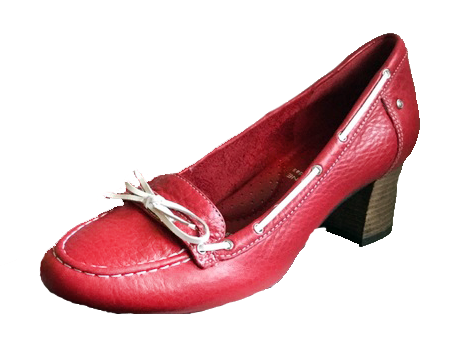 Women's  Rockport Adiprene •Gertie Moc• Red Leather Loafers