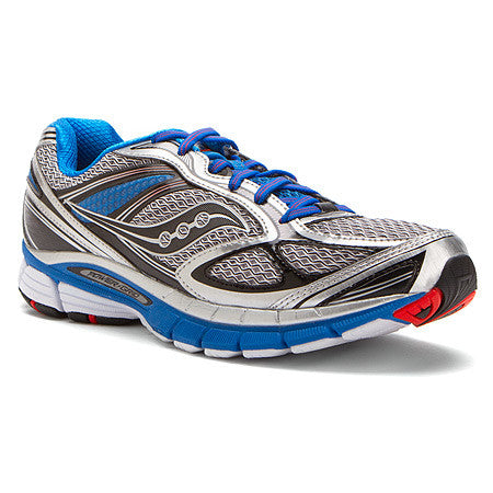 Mens Saucony Guide 7   •Silver / Blue / Black•  Running Shoe -WIDE WIDTH- - ShooDog.com