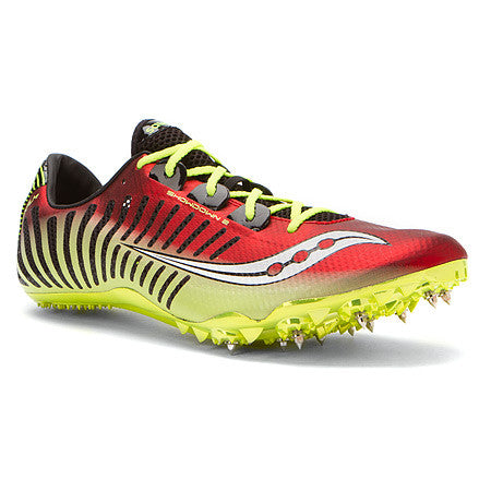 Men's Saucony Showdown 2 Red/Citron Racing Spike - ShooDog.com