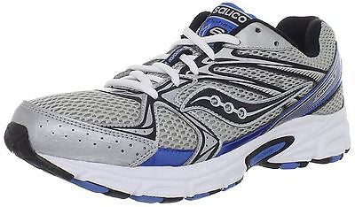 Men's Saucony Cohesion 6 •Silver/Blue• Running Shoe - ShooDog.com