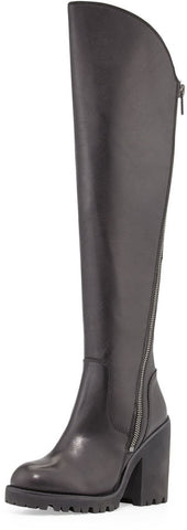 ASH Women's •Power• Over-The-Knee Boot - Black Leather