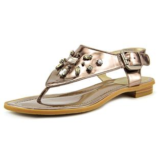 TAHARI Women's •Ashley• Jeweled Thong Sandal  - Old Gold - ShooDog.com