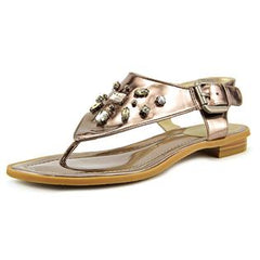 TAHARI Women's •Ashley• Jeweled Thong Sandal  - Old Gold