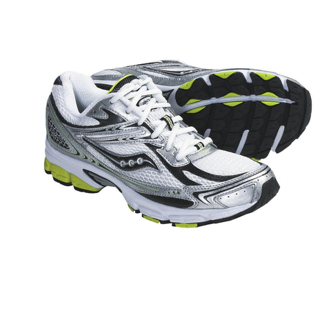 SAUCONY Men's Grid Ignition 2 -White/Black/Yellow- Running shoe - ShooDog.com