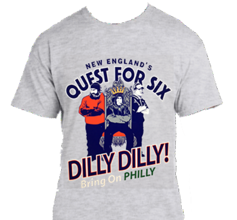 Quest for Six - The King  •New England Football Print SS T-Shirt•   Small-XLarge only $10.00