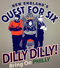 Quest for Six - The King  •New England Football Print SS T-Shirt•   Small-XLarge only $10.00 - ShooDog.com