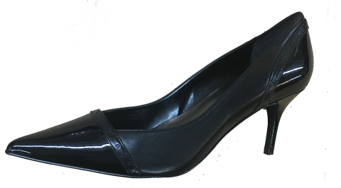 Tahari Womens •Raylin• Pointy- Toe Black/Black Patent Pump - ShooDog.com