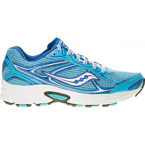 SAUCONY Women's Grid Cohesion 7 -Blue/White- Running Shoe - ShooDog.com