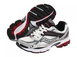 SAUCONY Men's Grid Ignition 2 -White/Black/Red- Running shoe - ShooDog.com