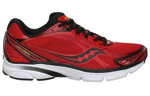 Men's Saucony Mirage 2 •Red/Black/Yellow• Running Shoe