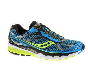 Mens Saucony ProGrid Ride 7 •Blue/Black/Citron• Running Shoe - ShooDog.com