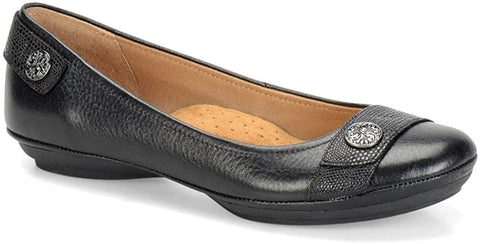 SOFTSPOTS Women's •Satara• Embosed Leather Flat