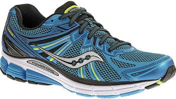Men's Saucony Grid Omni 13 •Blue/Citron•  Running Shoe - ShooDog.com