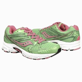 SAUCONY Women's Grid Cohesion 6 -Green/Pink- Running Shoe