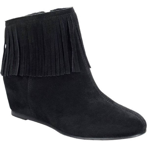 COMFORTIVA Women's •Riverton• Fringed Ankle Boot, - ShooDog.com