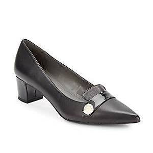 Womens Ellen Tracy -Emmie - Black Leather Pump - ShooDog.com