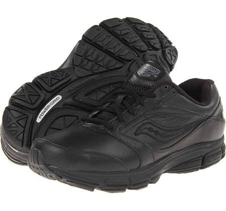 Men's Saucony Echelon LE 2 • Black• Wide Width Walking Shoe - ShooDog.com