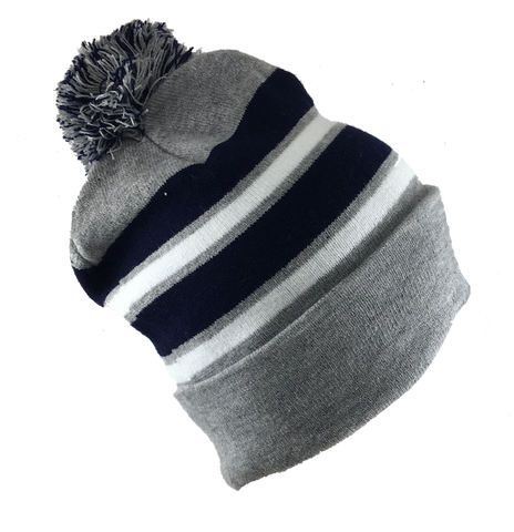 Adult's • Knit Cuffed Pom Hat• NE football colors - ShooDog.com